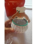 Avon Tiny Treat Holiday Basket - Gingerbread Man Christmas Xmas Holiday ... - $12.07