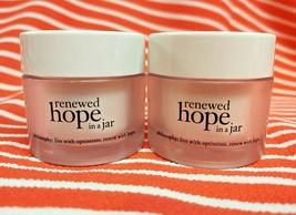 Philosophy Renewed Hope In A Jar Face Moisturizer Cream Refreshing 2 X .5 Oz New - $15.03