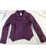 Disney Descendants Mal Faux Leather Moto Jacket sz: 9/10 - $46.74