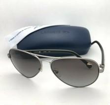 Neu Lacoste Sonnenbrille L163s 210 62-13 Gunmetal-Grey Aviator W / Braun... - $249.94