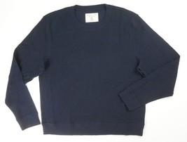 New Bloomingdales Navy Cotton Thermal Jacquard Knit Sweatshirt Sweater Size 2XL - $20.18