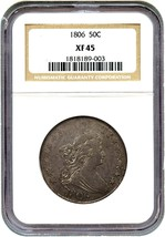 1806 50c NGC XF45 (O-114,Pointu 6,Tiges ) - Buste Demi Dollar - Grand Ty... - $1,746.02