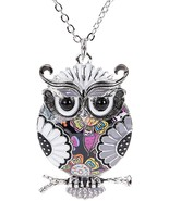 Unique Enamel Owl Necklace for Women Christmas Gift Pendants Jewelry can... - $31.22