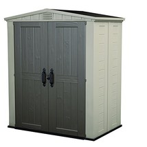 Keter Factor Large 6 x 3 ft. Resin Outdoor Backyard Garden Storage Shed - $1,089.11