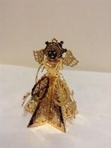 "Danbury Mint - 1990 Gold Christmas Ornament -  ""Caroling Angel"" (B1) - $12.95"