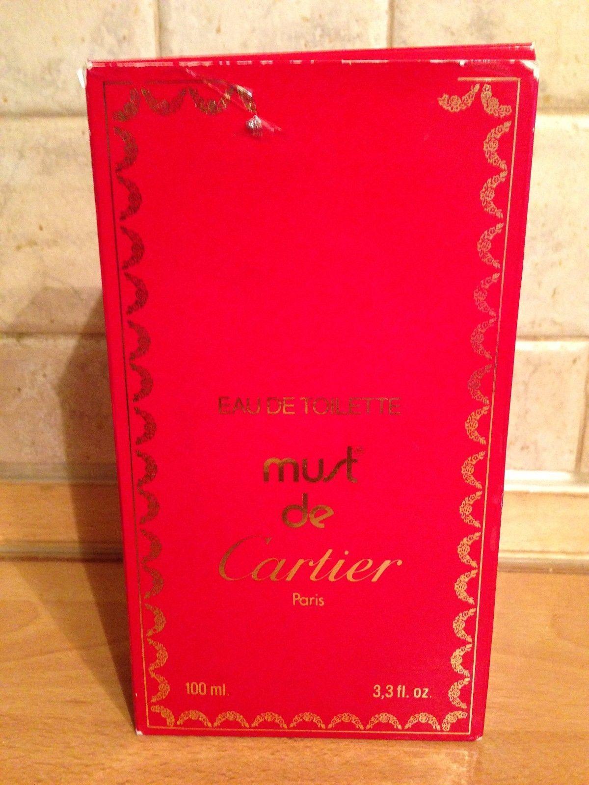 RARE MUST Cartier 3.3oz/ 100ml EDT vintage 1980s mint