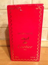 RARE MUST Cartier 3.3oz/ 100ml EDT vintage 1980s mint - $246.51