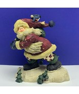 Santa Claus figurine 1999 Boyds Onward Bound carvers choice Christmas sc... - $39.55