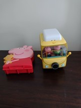 Peppa Pig Family Campervan and Peppa Pig Carry Storage Case With 17 Extra Pigs - $50.00