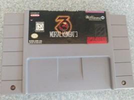 Mortal Kombat 3 SNES CART ONLY Super Nintendo MK tested - $14.84