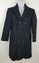Giovanni Bellini Black Wool Somen's Wool Pea Coat Size Small Made in USA - $23.55