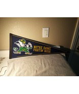 NOTRE DAME FIGHTIN' IRISH--BANNER / PENNANT---12 X 30 --FELT---FREE SHIP... - $15.48