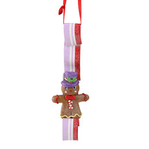 "Kurt Adler 6"" Sugar Town Gingerbread Man Purple Red Christmas Ornament - $6.67"