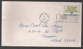 UN 1st Day of Issue Envelope 6 Cent Stamp Nov 30 1961 Charles City Iowa - $4.99