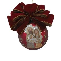 Kurt Adler 120mm Glass Holy Family Ornament - $49.95