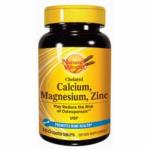 Natural Wealth - Chelated Calcium, Magnesium, Zinc - For Bone Health - 100 Tabs - $38.00