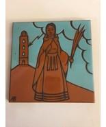 "Arius Tile Company - Santa Fe - Red Clay Art Tile - Saint  8""x8"" - $19.00"