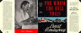 Hemingway pour Whom The Bell Plieur Facsimile Pochette pour Blakiston Ed... - $21.50