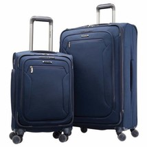Samsonite Explore Eco 2-piece Softside Set Carry-On Luggage Navy Blue - $2.185,28 MXN