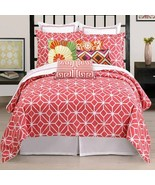 New Trina Turk Residential Trellis Duvet Cover Twin Coral Color - $87.11