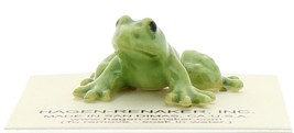 Hagen-Renaker Miniature Ceramic Frog Figurine Tiny Papa Frog and Baby Frog Set image 9