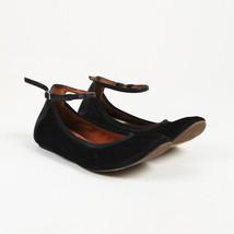 Lanvin Black Calf Hair Ankle Strap Flats SZ 38.5 - $95.00