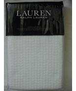 Ralph Lauren Herringbone White Cotton Matelasse Euro Sham - $66.00