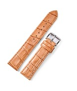 Watch Straps 20mm 24mm Leather Men Women's Strap Brown White Color  Acce... - $19.69