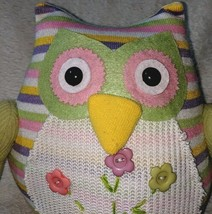 GANZ 96M7432 Multi Colored Polyester 10 Inch Tall Striped Owl image 1