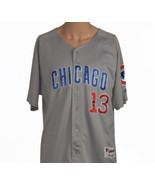 Chicago Cubs #13 Men's Sz 48 Short Sleeve Button Front MLB Baseball Jersey - $34.95