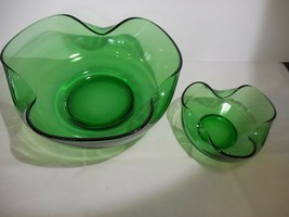 Anchor Hocking Crimped Forest Green Accent Modern Chip and Dip Serving Set - $9.99