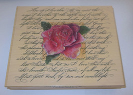 """How Do I Love Thee Rubber Stamp Rose Poem Large 5.5"""" Long Let Me Count T... - $16.82"""