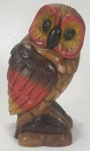 "Mid Century Carved Wood OWL 10"" tall - $69.99"