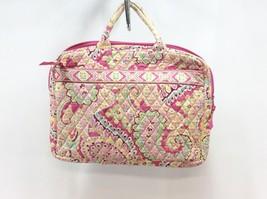 Vera Bradley Purse Pinwheel Pink Handbag Travel Bag Pink Yellow Blue Green IPad - $24.70