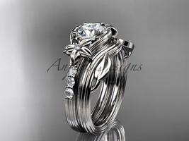 D wedding ring  diamond engagement ring  forever brilliant moissanite  matching band  1 thumb200