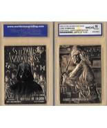 """STAR WARS """"LUKE SKYWALKER & DARTH VADER"""" GEM-MT 10 """"23 KT GOLD CARD! 1/1... - $14.69"""