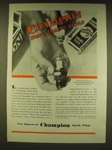 1931 Champion Spark Plugs Ad - Champion more than a name - $14.99