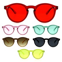 Child Kids Size Round Keyhole Thin Horn Rim Minimal Mod Sunglasses - $9.95