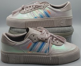 Adidas Originals Sambarose Sneakers Casual Off White Women's Size 9.5 EE5128 NEW - $92.56