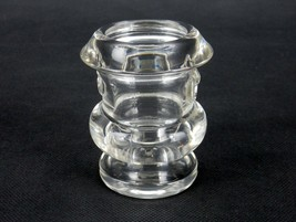 Vintage Toothpick Holder, Thick Glass, Clear, Bucket Shape, Angled Rim, ... - $12.69