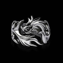 USA Newest Jewelry Mens Ring Silver Stainless Steel Dragon Ring Size 8-10 - $190,66 MXN