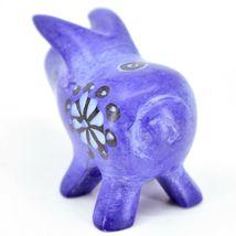Tabaka Chigware Hand Carved Kisii Soapstone Blue Pig Miniature Mini Figurine image 4