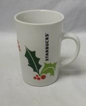Starbucks Christmas Holly Coffee Mug 2011 Holiday Tea Cup Winter 10.6oz - $13.70