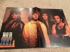 Jon Bon Jovi teen magazine poster clipping Bravo the dark side Bop 1980's