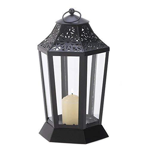 Gallery of Light Black Candle Lantern, Decorative Outdoor Metal Candle Lanterns