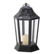 Gallery of Light Black Candle Lantern, Decorative Outdoor Metal Candle L... - $24.99