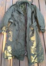 Us Army M-1950 Field Overcoat Od -7 W/ Belt & Wool Liner Korea War 1951 - S Long - $65.41