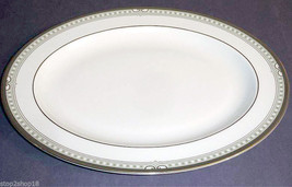"Royal Doulton LICHFIELD Oval Serving Platter Dish Made in UK 13.5"" New - $59.90"