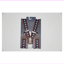 New Club Room Men's One Size Navy Stars & Striped Suspenders - $9.90
