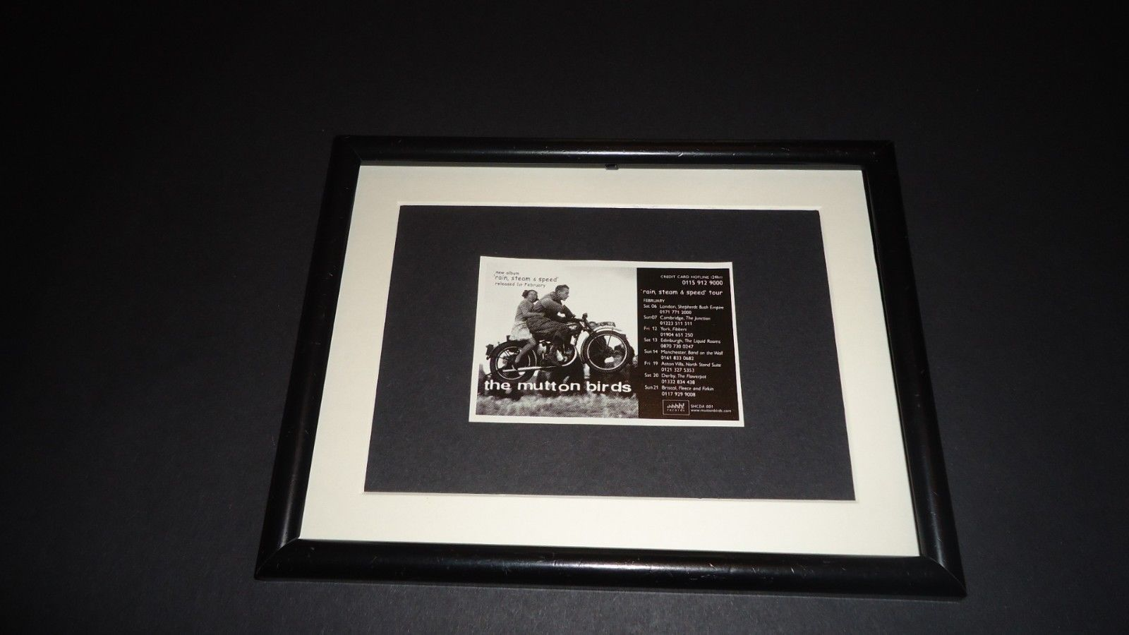 Primary image for The Mutton birds-1999 UK Tour-Original advert framed